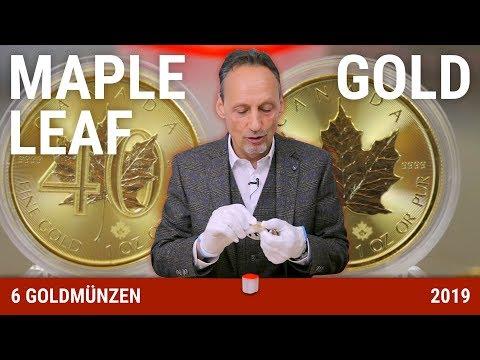 MAPLE LEAF GOLD - 6 GOLDMÜNZEN AUS 2019