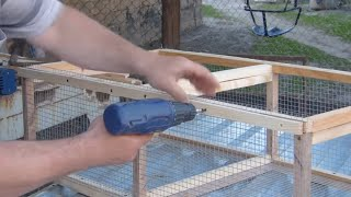 КАК СДЕЛАТЬ КЛЕТКУ ДЛЯ ЦЫПЛЯТ УТЯТ ГУСЯТ...HOW TO MAKE A CELL FOR CHICKENS HAVE GUSHAT