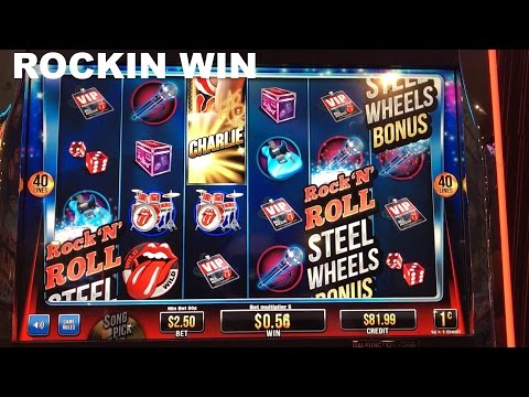 The Rolling Stones live play max bet with BONUS and Rockin win BIG WIN Slot Machine