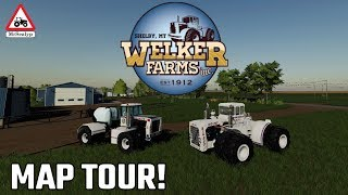 WELKER FARMS, NEW MOD MAP! MAP TOUR! Farming Simulator 19, PS4.