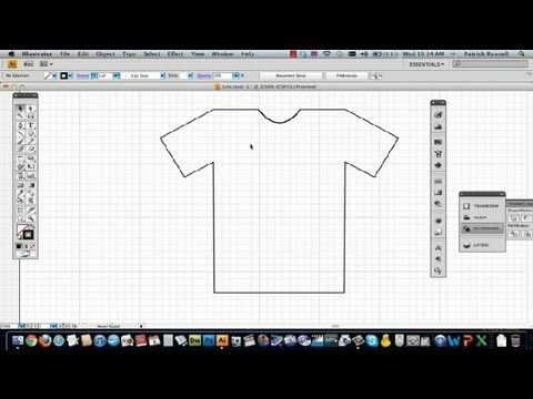 How to draw a t shirt in illustrator using adobe How to make t shirt designs in illustrator