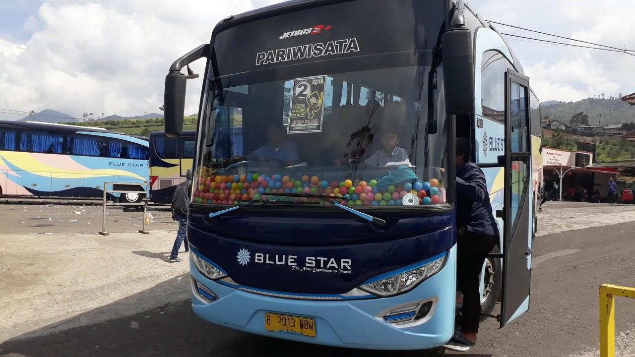 Bus Pariwisata Blue Star Yang Selalu Datang Ke Darajat Pass Garut, Hheee