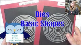 What's in my stash - Ep 25 - Basic Die Cutting Shapes - Scrapbooking - Card Making - Tools