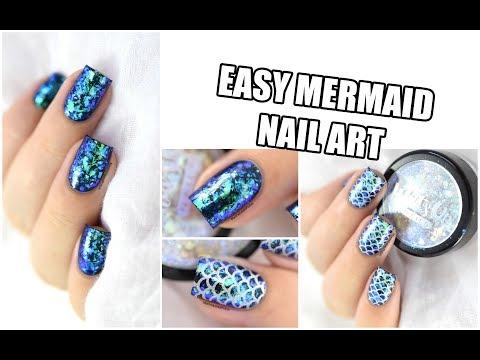 How To: Easy Mermaid Nail Art / Iridescent Flakies || Marine Loves Polish
