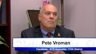 Between the Lines with Pete Vroman, Candidate for NYS Assembly District 111