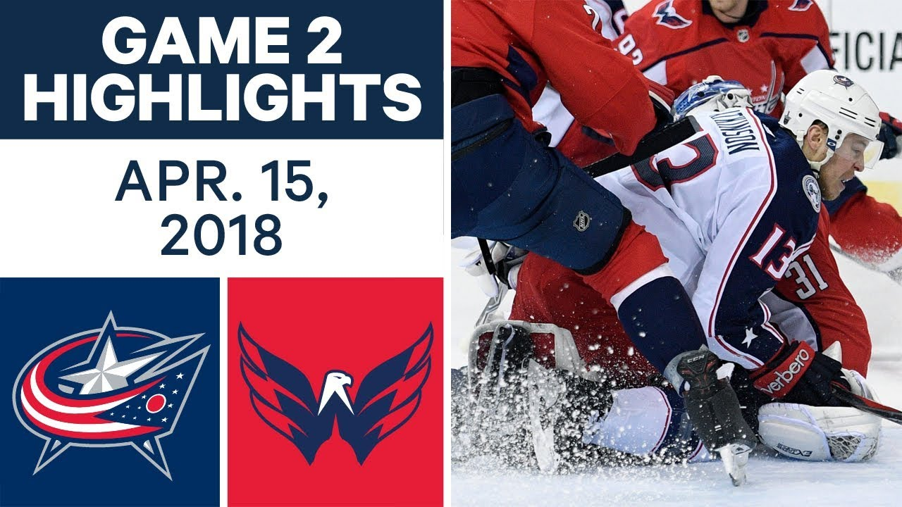 NHL Highlights | Blue Jackets vs. Capitals, Game 2 - Apr. 15, 2018