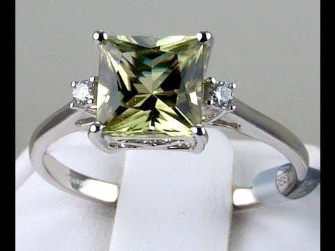 2.08ct Genuine Color Change Csarite Solitaire with Diamonds 14k Solid White Gold Ring!