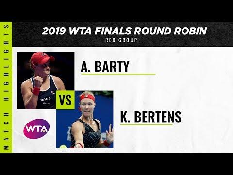 Ashleigh Barty vs. Kiki Bertens | 2019 WTA Finals | WTA Highlights