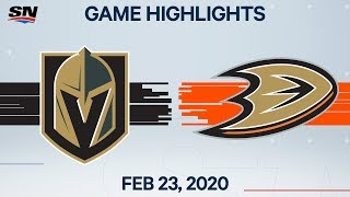 NHL Highlights | Golden Knights vs. Ducks - Feb. 23, 2020