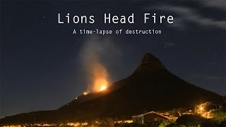 Lions Head Fire time-lapse - 2 December 2014