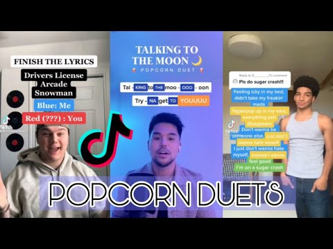 Popcorn Duets That You Can Try #14 (Talking to the moon, Arcade and more) ⁓ TikTok Compilation