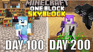 I Spent 200 Days In One Block Minecraft And Here's What Happened...