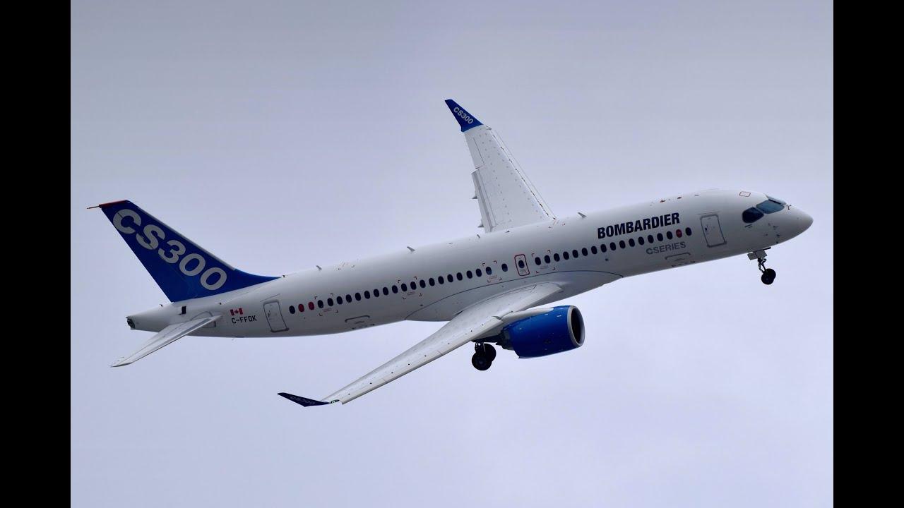 Paris Air Show 2015 Bombardier Cseries Cs300 Youtube