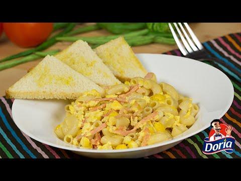 Codos Doria con mazorca y huevo