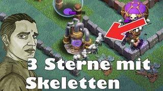 MEISTERHÜTTE 8 ANGRIFFE DIE SKELETTE MACHEN 3 STERNE ! - CLASH OF CLANS