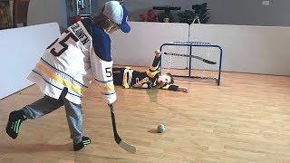 Knee Hockey Crosby v Ristolainen Epic Shots and Saves Mini Sticks