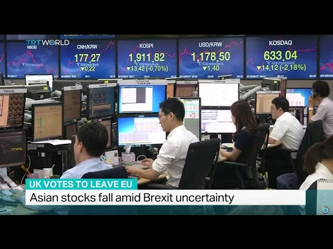 Asian stocks fall amid Brexit uncertainty, Pamela Ambler reports
