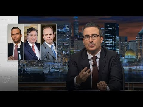 John Oliver: Three Trump Associates Charged- Last Week Tonight (HBO 08/11/2017)