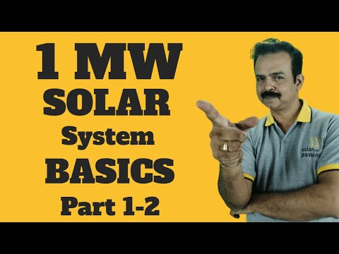 1MW Solar Power Plant | How Much Land Required  | Kusum yojana | cost of 1 MW solar project