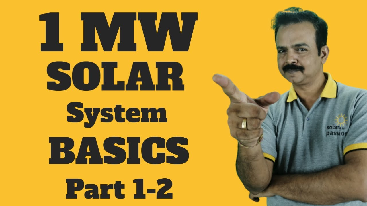 1mw Solar Power Plant How Much Land Required Kusum Yojana Cost Of 1 Mw Solar Project Youtube