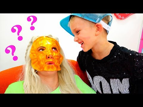 Vlad and mama pretend play Makeup toys