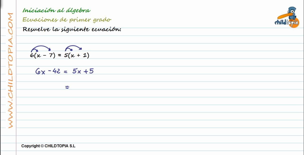 álgebra Problemas Ecuaciones De Primer Grado 1º De Eso Youtube