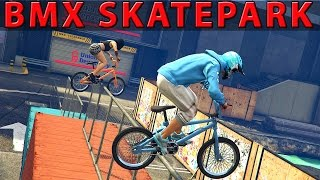 GTA 5 EPIC BMX RAMPS #2 (GTA 5 skatepark stunts)