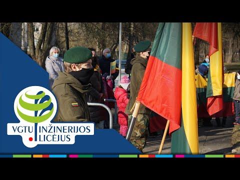 LR vėliavos iškėlimo ceremonija, skirta Kovo 11-ajai (VGTU inžinerijos licėjus)