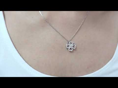 clover spinning necklace silver
