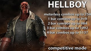 Injustice 2: Hellboy combo guide. Beginner/advanced. Damage up to 1137. Competitive mode. Damage!