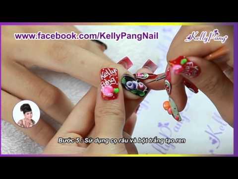 KellyPang Nail - Mẫu Nail Hoa Trong Hè