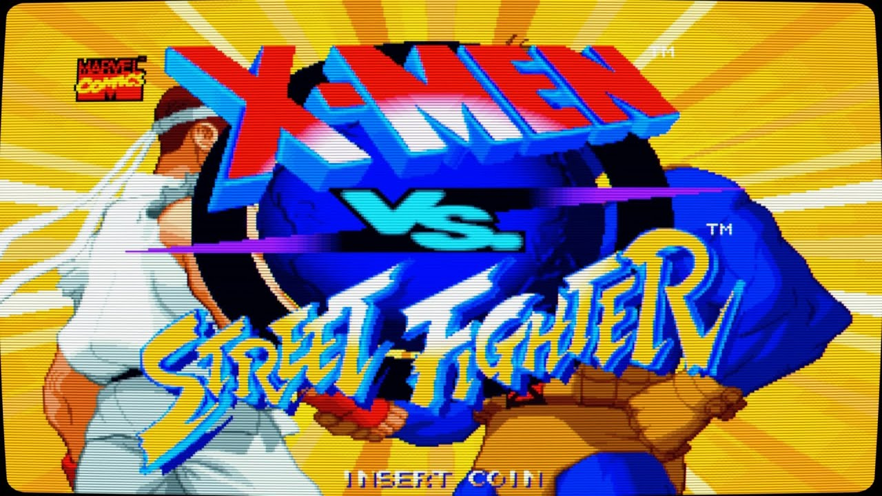 X Men Vs Street Fighter Intro Arcade Game Youtube