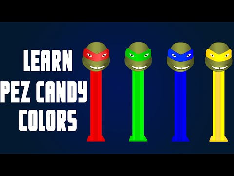Learning Colors For Children Teenage Mutant Ninja Turtles Pez Dispensers Learn Crazy Kids Songs Youtube