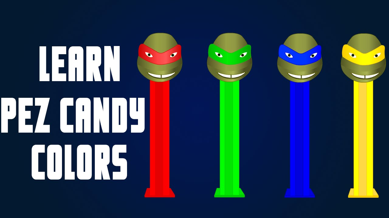 learning colors for children teenage mutant ninja turtles pez