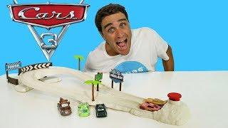 Cars Fireball Beach Racers Track Set !    Disney Toy Review    Konas2002