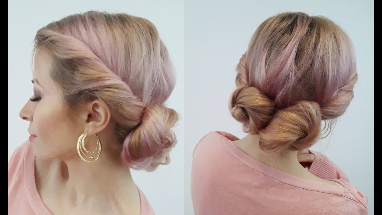 EASY HAIRSTYLE EASY AND CUTE TWISTED BUNS UPDO   Awesome Hairstyles - YouTube