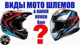 Виды мото шлемов и их отличия