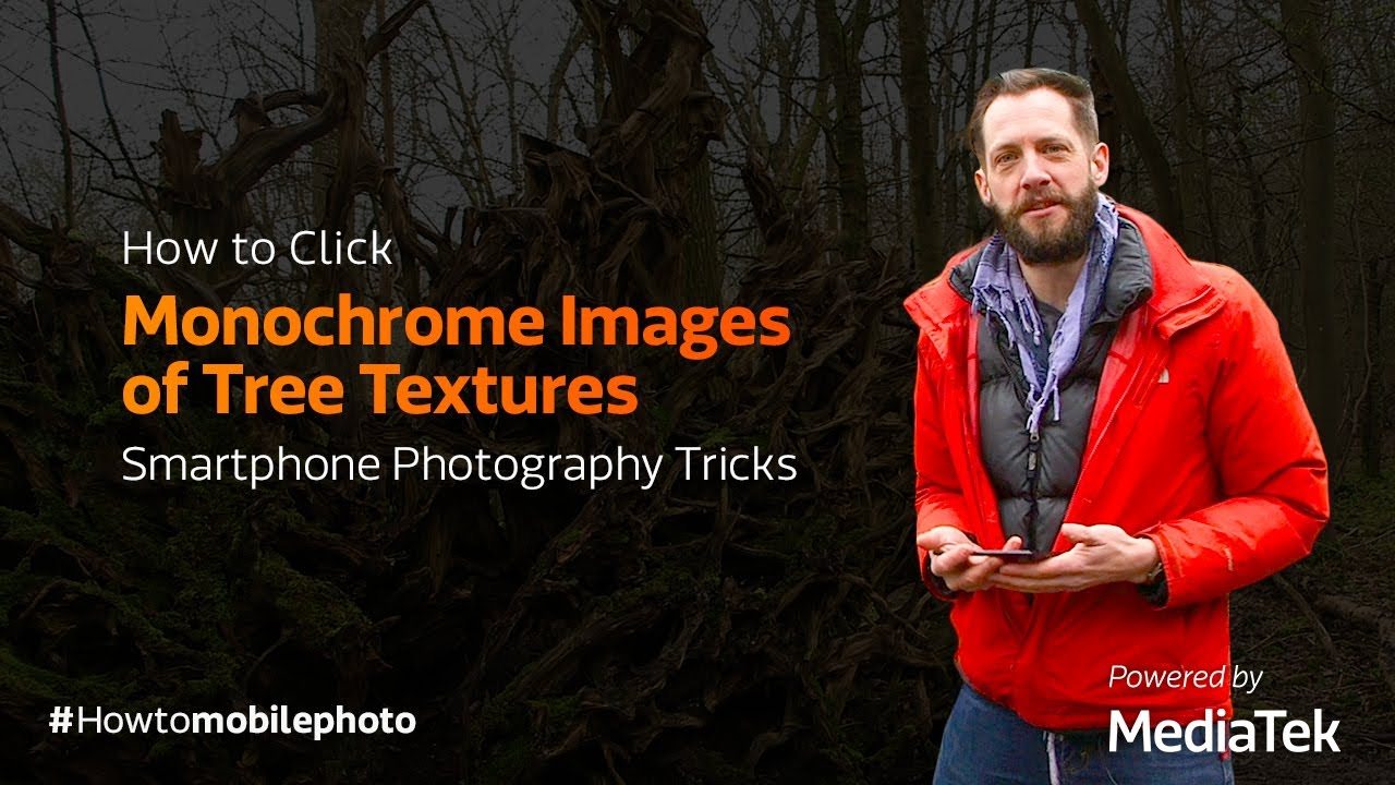 How to Click Monochrome Images of Tree Textures | Smartphone Photography Tricks