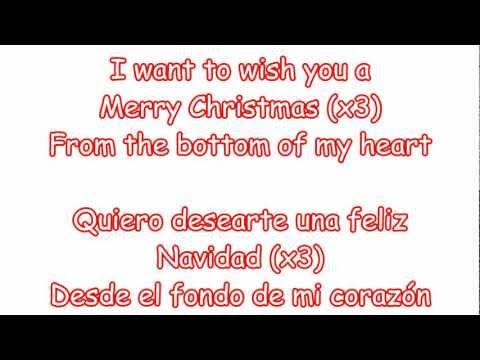 Glee - Feliz Navidad (lyrics & traduccion en español)