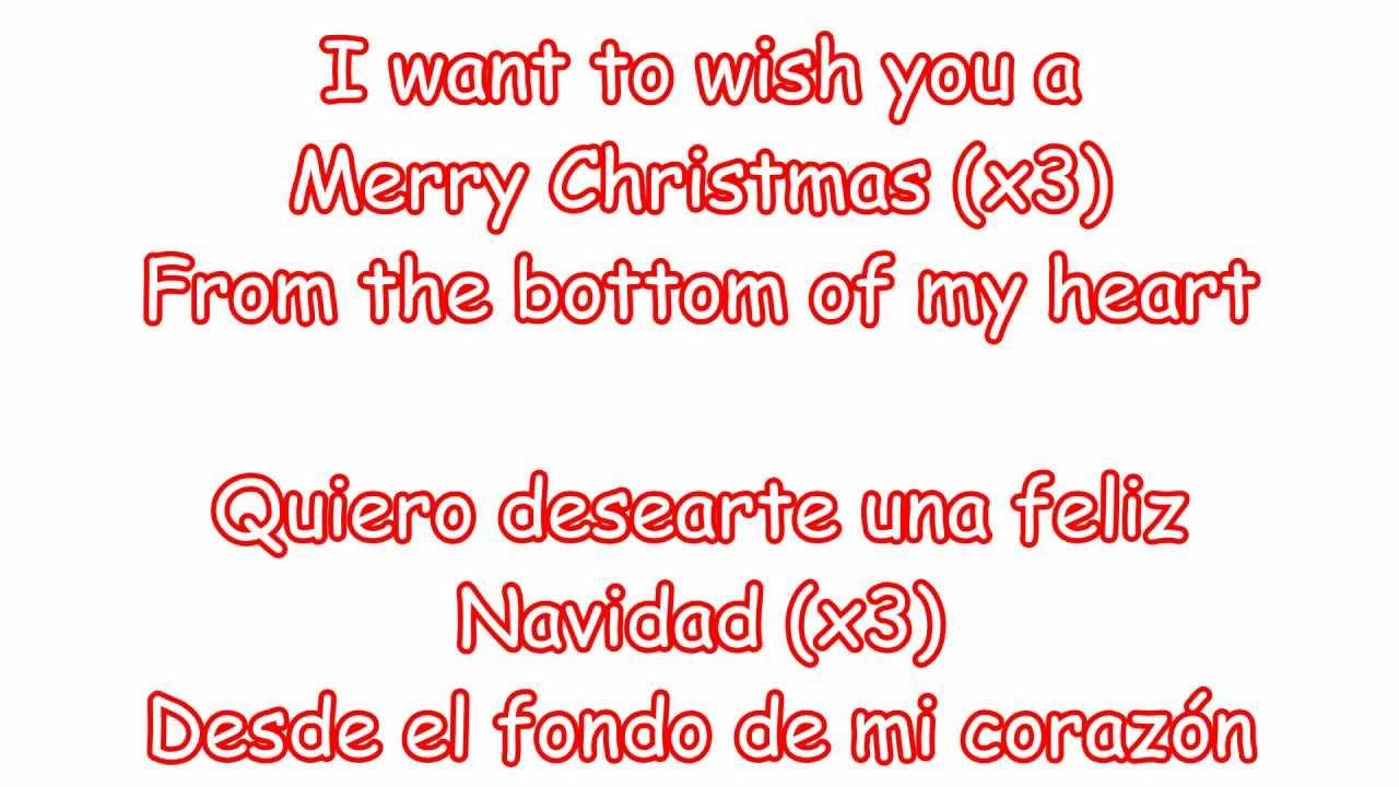 Lyric to feliz navidad in spanish