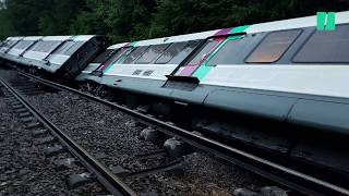 Les images du RER B couché sur les voies après avoir déraillé