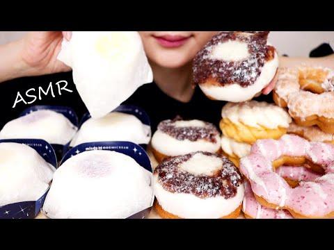 【大食い/咀嚼音】ミスド-もちクリームドーナツコレクション-新作-mister-donut-mochi【asmr-/-eating-sounds-/-mukbang-/-no-talking】