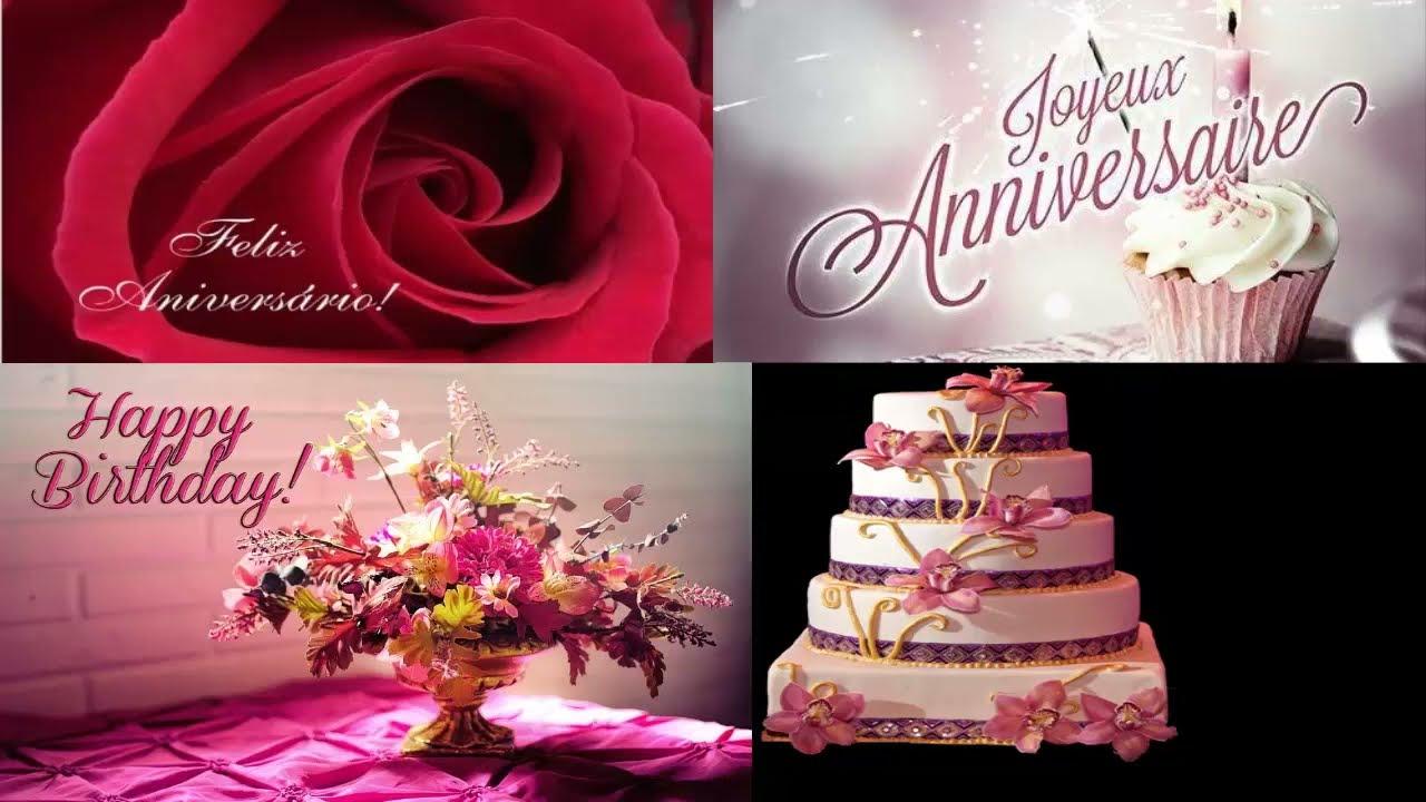 joyeux anniversaire en portugais francais anglais