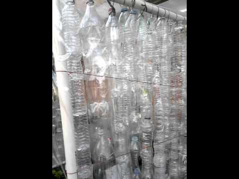 Cortina de botellas de pl stico youtube - Cortinas de plastico ...
