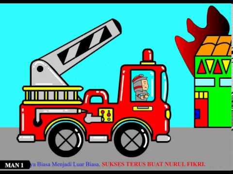 4200 Koleksi Gambar Mobil Damkar Kartun HD Terbaik