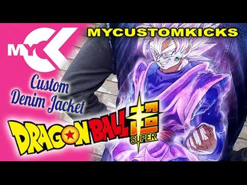How to Draw & Custom Painted Dragon Ball Z Denim Jacket DBZ