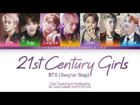 Mix - BTS (방탄소년단) - 21st Century Girls (Color Coded Lyrics/Eng/Rom/Han) 「collab with ColorCodedK」
