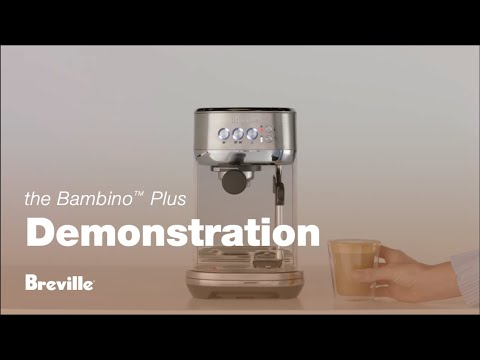 Make a latte with the Bambino Plus