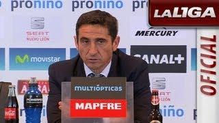Rueda de Prensa de Jiménez tras el Real Zaragoza (3-2) RCD Mallorca - HD