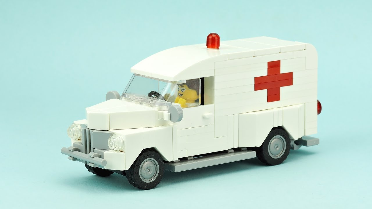 Lego Vintage Ambulance Moc Building Instructions Youtube